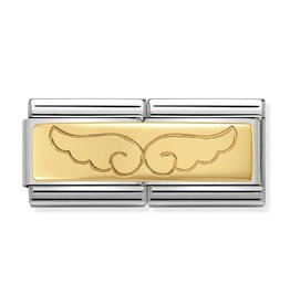 Nomination Nomination 030710/08 Double Engraved Wing 18k Goud