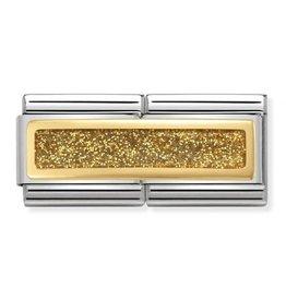 Nomination Nomination 030720/03 Double Engraved Glitter Rectangle Gold 18k Goud