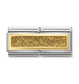 Nomination Nomination 030720/03 Double Engraved Glitter Rectangle Gold 18k Goud