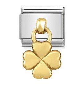 Nomination Nomination 031800/02 Charms Four Leaf Clover 18k Goud