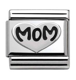 Nomination Nomination 330101/10 Oxidized Symbols Mom Heart
