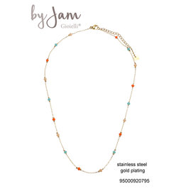 By Jam Gioielli By Jam Ketting Colorful-Goudkleurig