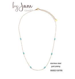 By Jam Gioielli By Jam Ketting Turquoise-Goudkleurig