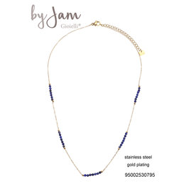 By Jam Gioielli By Jam Ketting Navy-Goudkleurig