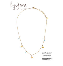 By Jam Gioielli By Jam Ketting Mint-Goudkleurig