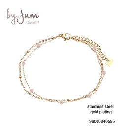 By Jam Gioielli By Jam Armband Peach-Goudkleurig
