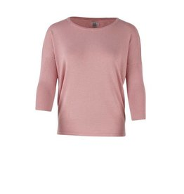 Saint Tropez Saint Tropez A2561 Knit Blouse With Rib Sleeve Soft Pink