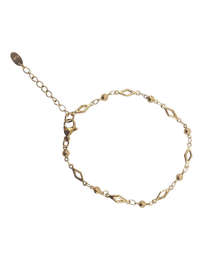 Kalli Kalli Bracelet 2546 Goudkleurig