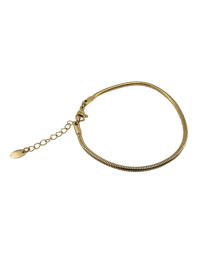 kall Kalli Bracelet 2551 Rond 2.5mm Dikte Goudkleurig