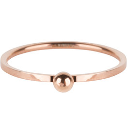 Charmin*s Charmin's R530 Dot Ring Rosé Gold Steel