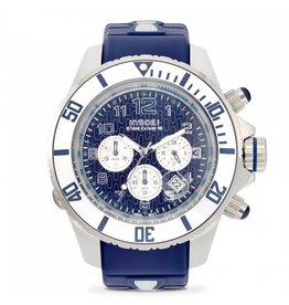 Kyboe! Horloges Kyboe CHRONO SILVER SEA KYC-002 55 mm