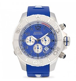 Kyboe! Horloges Kyboe CHRONO SILVER SAPPHIRE KYM-003 55 mm
