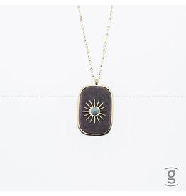 Zag Bijoux Zag Bijoux Necklace Jasper Goudkleurig