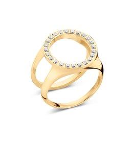 Melano Melano Friends Cover Ring CZ Goudkleurig
