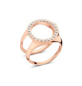 Melano Melano Friends Cover Ring CZ Rosé Goudkleurig