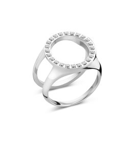 Melano Melano Friends Cover Ring CZ Zilverkleurig
