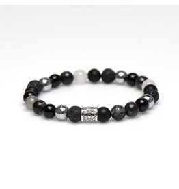 Karma Karma for Men Roasted Silver Logo Bead 86862