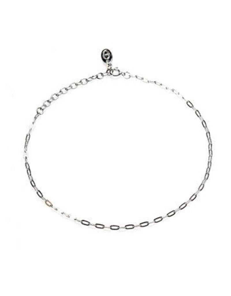 Karma Karma Anklet Oval Chain Zilver