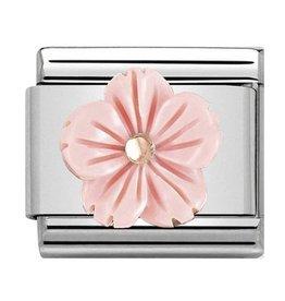 Nomination Nomination Link 430510/03 Flower in Pink Coral