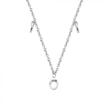 Mi Moneda MMM Necklace Jazz With Three Monogram Clips Included Zilver