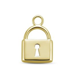 Mi Moneda Monogram MMM Charm Lock Goudkleurig