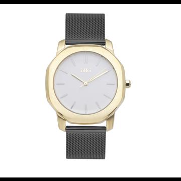 iKKi Horloges Ikki VC05 Zwart/Goudkleurig/Wit
