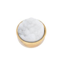 iXXXi Jewelry iXXXi Jewelry Top Part Drusy White Goudkleurig