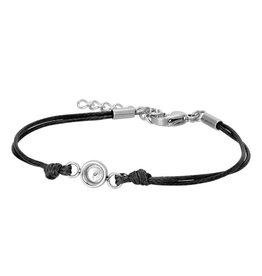 iXXXi Jewelry iXXXi Jewelry Top Part Bracelet Wax Cord Black
