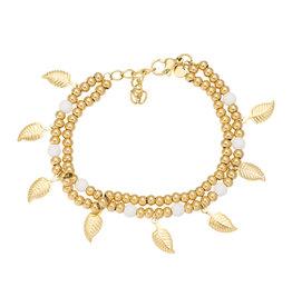 iXXXi Jewelry iXXXi Jewelry Bracelet Dazzling Leaves Goudkleurig