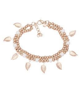 iXXXi Jewelry iXXXi Jewelry Anklet Dazzling Leaves Rosé