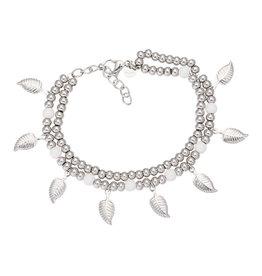 iXXXi Jewelry iXXXi Jewelry Anklet Dazzling Leaves Zilverkleurig