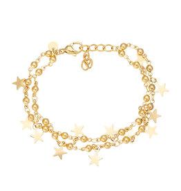 iXXXi Jewelry iXXXi Jewelry Anklet Dazzling Stars Goudkleurig