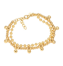 iXXXi Jewelry iXXXi Jewelry Anklet Dazzling Circles Goudkleurig