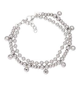 iXXXi Jewelry iXXXi Jewelry Anklet Dazzling Circles Zilverkleurig