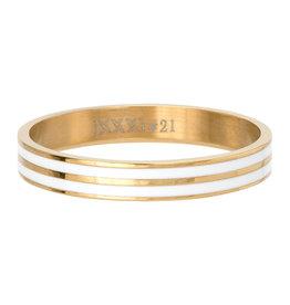 iXXXi Jewelry iXXXi Jewelry Vulring Double Line White Goudkleurig 4mm