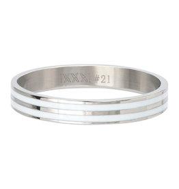 iXXXi Jewelry iXXXi Jewelry Vulring Double Line White Zilverkleurig 4mm