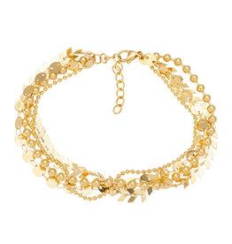 iXXXi Jewelry iXXXi Jewelry Anklet Arrow Chain Goudkleurig