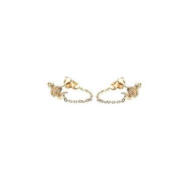 Karma Karma Chain Earrings Snake Goudkleurig