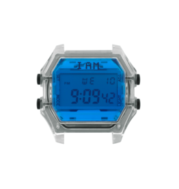 IAM The Watch IAM-108 Transparant Case Blue Glass 44mm