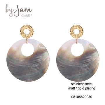 By Jam Gioielli By Jam Oorbellen Shell Goudkleurig