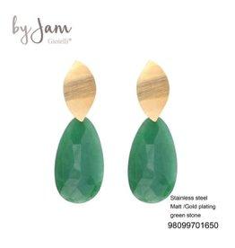 By Jam Gioielli By Jam Oorbellen Green Goudkleurig