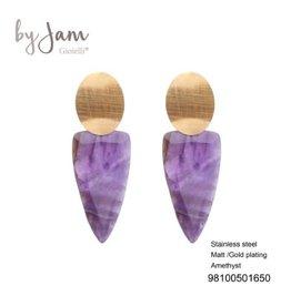 By Jam Gioielli By Jam Oorbellen Purple Goudkleurig