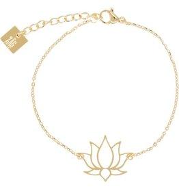 Zag Bijoux Zag Bijoux Bracelet Lotus Goudkleurig
