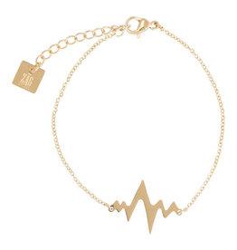 Zag Bijoux Zag Bijoux Bracelet Heartbeat Goudkleurig