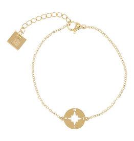 Zag Bijoux Zag Bijoux Bracelet Compass Goudkleurig