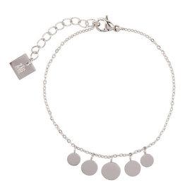 Zag Bijoux Zag Bijoux Bracelet Familt Coins Zilverkleurig