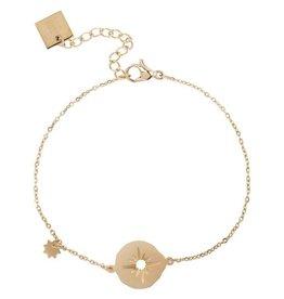 Zag Bijoux Zag Bijoux Bracelet Star Goudkleurig