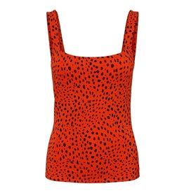 Noisy May Noisy May NM Rawa Tank Top Tangerine Tango Black