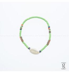 Zag Bijoux Zag Bijoux Anklet Green Shell