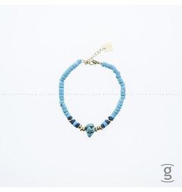 Zag Bijoux Zag Bijoux Beach Bracelet Turquoise Stone